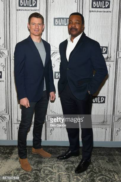 Actors Philip Winchester and Carl Weathers attend the Build Series at Build Studio on March 3 2017 in New York City