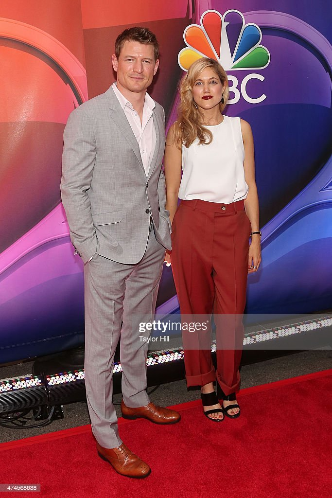Actors Philip Winchester and Charity Wakefield attend the 2015 NBC Upfront presentation red carpet event at Radio City Music Hall on May 11, 2015 in New York City.