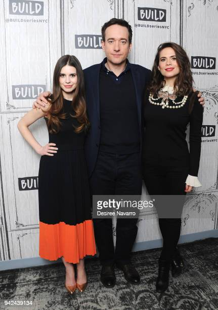 Actors Philippa Coulthard Matthew Macfadyen and Hayley Atwell visit Build Series to discuss 'Howards End' at Build Studio on April 5 2018 in New York...