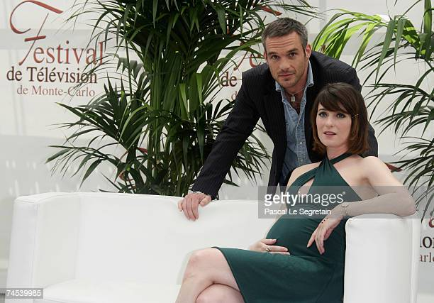 Actors Philippe Bas and Tadrina Hocking attend a photocall on the first day of the 2007 Monte Carlo Television Festival held at Grimaldi Forum on...