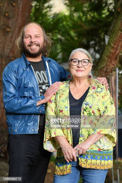 """Actors Philippe Katerine and Josiane Balasko attend the """"La Piece Rapportee"""" Photocall at 13th Angouleme French-Speaking Film Festival on August 29,..."""