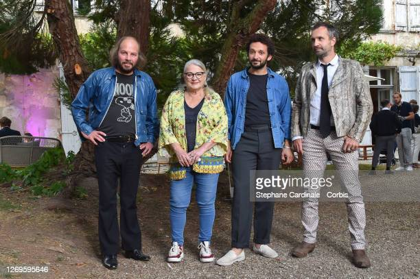 """Actors Philippe Katerine, Josiane Balasko, William Lebghil and director Antonin Peretjako attend the """"La Piece Rapportee"""" Photocall at 13th Angouleme..."""