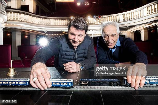 Actors Philippe Lellouche and Gerard Darmon are photographed for Gala on January 28 2016 in Paris France