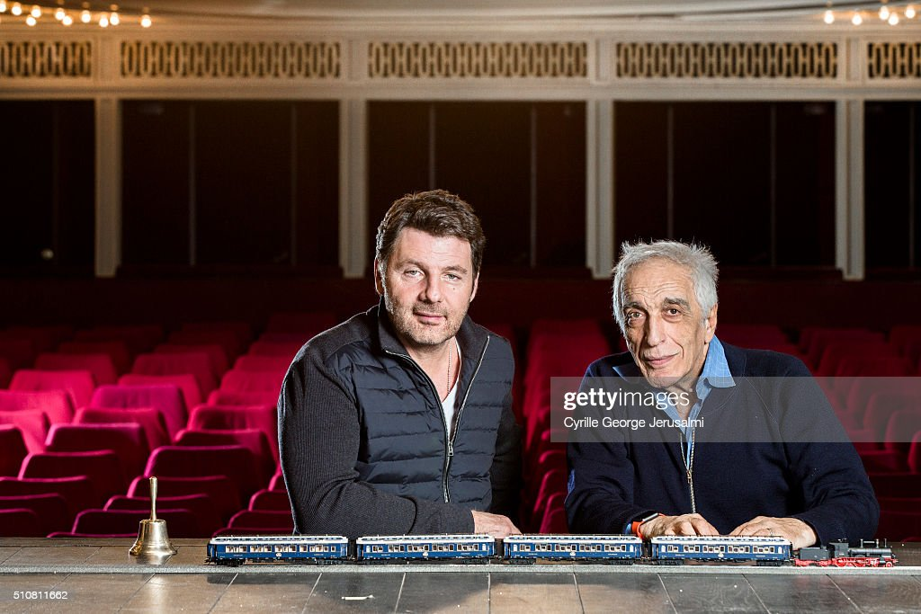 Actors Philippe Lellouche and Gerard Darmon are photographed for Gala on January 28, 2016 in Paris, France.