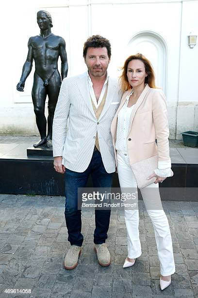 'LR Actors Philippe Lellouche and Vanessa Demouy attend Museum Paul Belmondo celebrates its 5th Anniversary on April 13 2015 in BoulogneBillancourt...