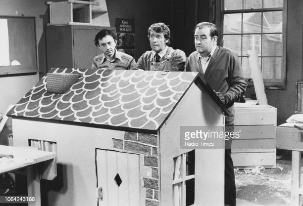 Actors Phillip ClaytonGore Michael Crawford and Norman Chappell in a scene from episode 'Wendy House' of the television sitcom 'Some Mothers Do 'Ave...