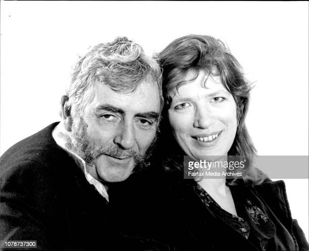 Actors Phillip Ross and Felicity Gordon photographed in the office today September 04 1978