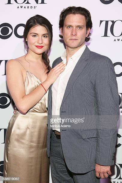 Actors Phillipa Soo and Steven Pasquale attend the 2016 Tony Honors Cocktail Party at The Diamond Horseshoe on June 6 2016 in New York City