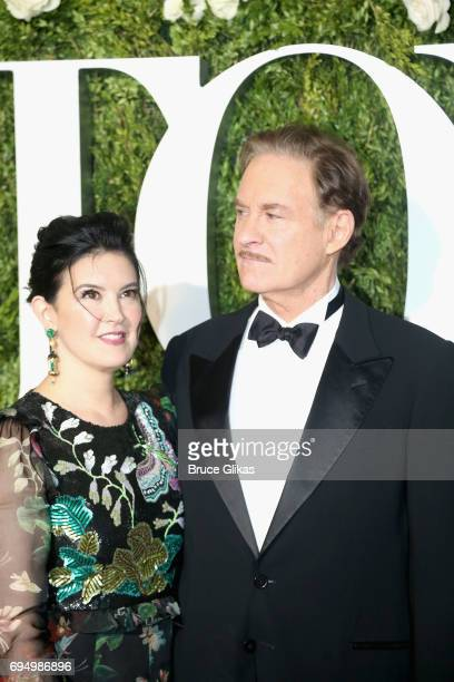 Actors Phoebe Cates and Kevin Kline attend the 71st Annual Tony Awards at Radio City Music Hall on June 11 2017 in New York City