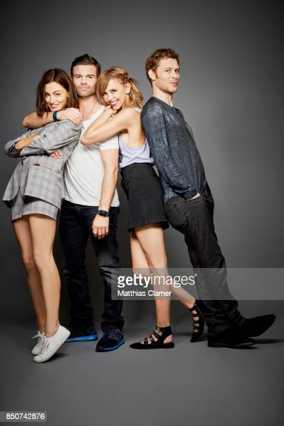 Actors Phoebe Tonkin Daniel Gillies Riley Voelkel and Joseph Morgan from The Originals are photographed for Entertainment Weekly Magazine on July 22...