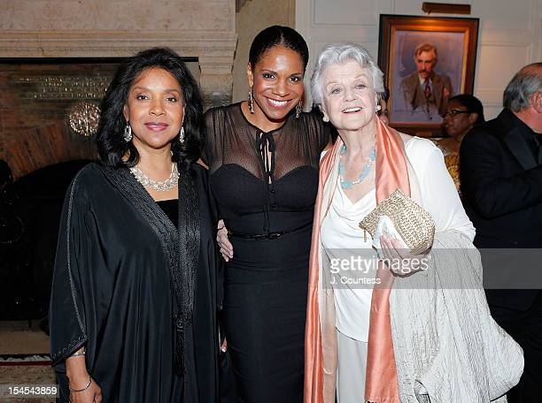 Actors Phylicia Rashad Audra McDonald and Angela Lansbury attend The Players Host Pipe Night Gala Honoring Audra McDonald at Booth Mansion on October...