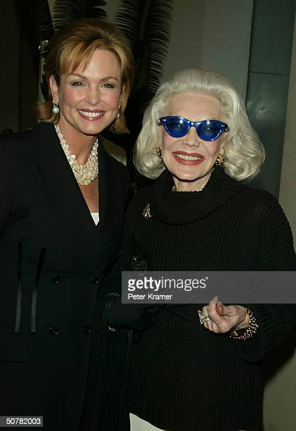 Actors Phyllis George and Anne Slater attend a cocktail party for the introduction of SUR Exclusive Andean Artistry at the Donna Karan store on April...