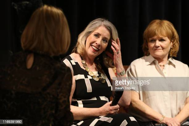 Actors Phyllis Logan and Lesley Nicol attend Indigo Presents Downton Abbey In Conversation and Experimental Event at Indigo Bay Bloor on September 18...