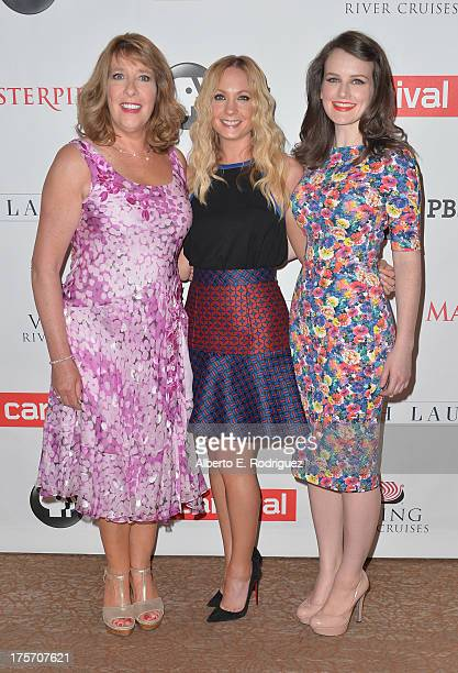 Actors Phyllis Logan Joanne Froggatt and Sophie McShera attend PBS History's 'Downton Abbey' Season 4 Photo Call at The Beverly Hilton Hotel on...