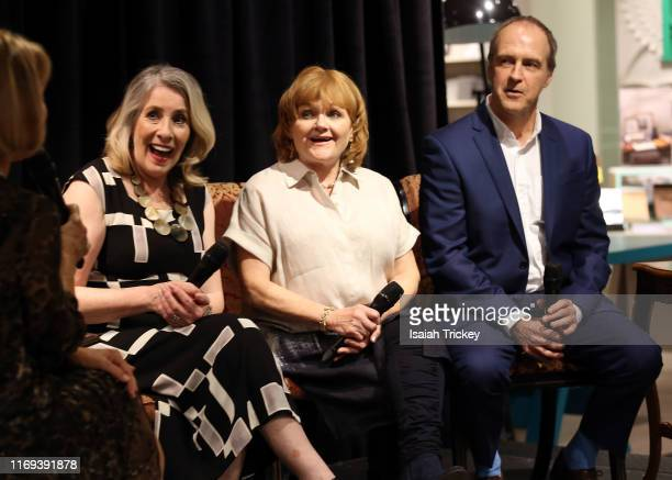 Actors Phyllis Logan Lesley Nicol and Kevin Doyle attend Indigo Presents Downton Abbey In Conversation and Experimental Event at Indigo Bay Bloor on...