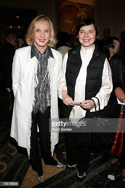 Actors Pia Lindstrom and Isabella Rossellini attend the BAM 2007 Spring Gala celebrating the premiere of Edward Scissorhands on March 14 2007 in New...