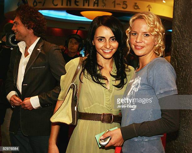Actors Pia Miranda and Jessica Napier arrive at the $1 million film making competition Project Greenlight Australia during the Green Carpet Premiere...