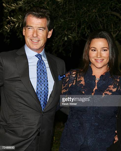 Actors Pierce Brosnan and his wife Keely Shaye Smith arrive at Oceana's 2006 Partners Award Gala at the Esquire House on November 9 2006 in Los...