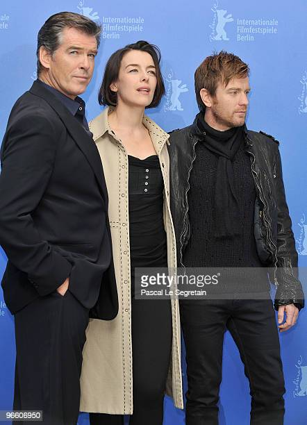 Actors Pierce Brosnan Olivia Williams and Ewan McGregor attend the 'Ghost Writer' Photocall during day two of the 60th Berlin International Film...