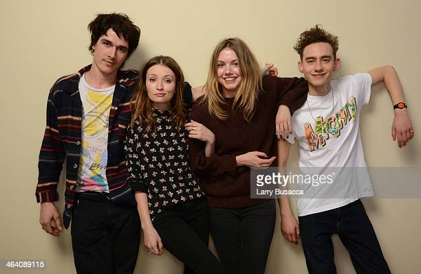 Actors Pierre Boulanger Emily Browning Hannah Murray and Olly Alexander pose for a portrait during the 2014 Sundance Film Festival at the Getty...