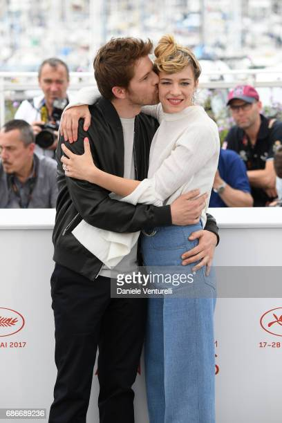 Actors Pierre Deladonchamps and Celine Sallette attend the 'Our Crazy Years ' photocall during the 70th annual Cannes Film Festival at Palais des...
