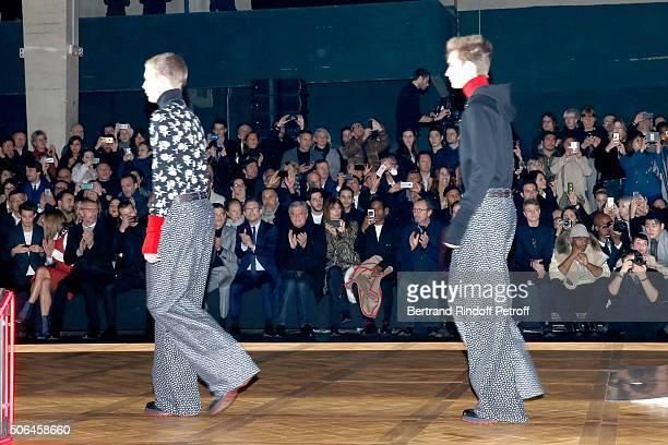 Actors Pierre Niney Natasha Andrews Lambert Wilson Glen Powell Christian Slater CEO Dior Sidney Toledano Caroline de Maigret and Rapper ASAP Rocky...