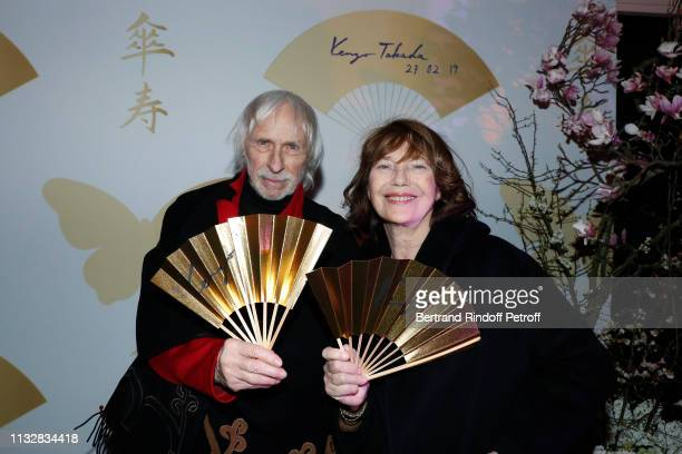 Actors Pierre Richard and Jane Birkin attend the 80th Kenzo Takada Birthday Party at Pavillon Ledoyen on February 28 2019 in Paris France