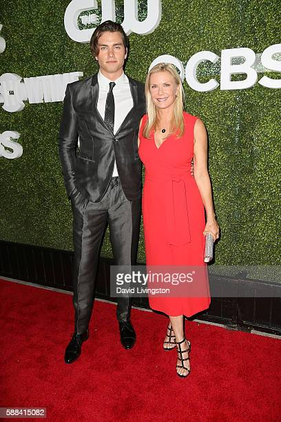 Actors Pierson Fode and Katherine Kelly Lang arrive at the CBS CW Showtime Summer TCA Party at the Pacific Design Center on August 10 2016 in West...