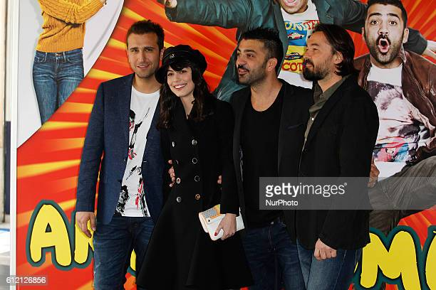 "Actors Pio D'Antini; Amedeo Grieco; Alessandra Mastronardi and Enrico Lando attends ""Friends as we"" photocall in Rome - Cinema Adriano"
