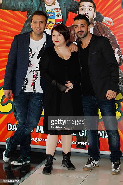 "Actors Pio D'Antini; Amedeo Grieco and Maria Di Biase attends ""Friends as we"" photocall in Rome - Cinema Adriano"