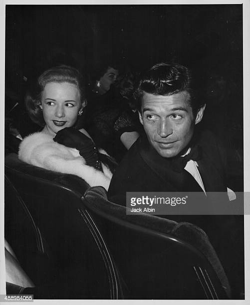 Actors Piper Laurie and George Nader at the premiere of the film 'Magnificent Obsession' 1954