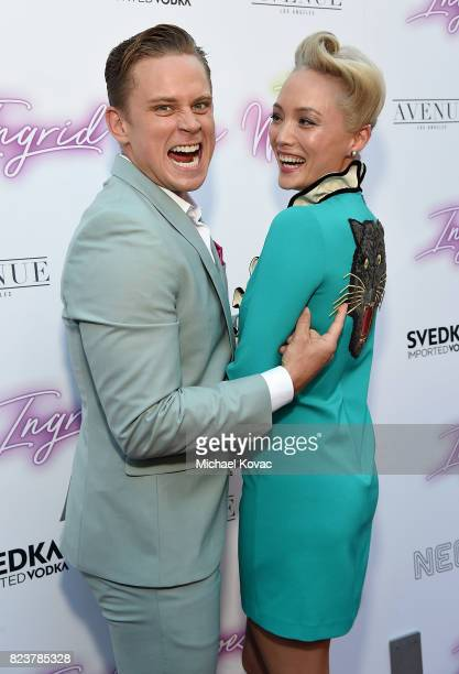 "Actors Pom Klementieff and Billy Magnussen attend the Los Angeles Premiere of ""Ingrid Goes West"" presented by SVEDKA Vodka and Avenue Los Angeles at..."