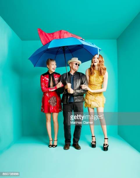 Actors Pom Klementieff Michael Rooker and Karen Gillan from Guardians of the Galaxy Vol 2 are photographed for Entertainment Weekly Magazine on July...