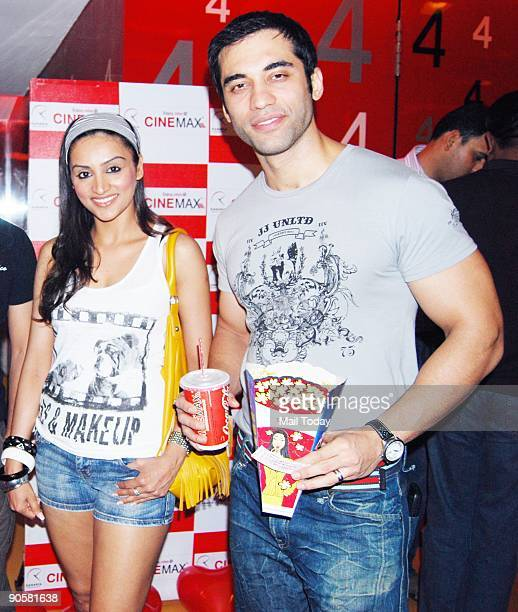 TV actors Poorvi Joshi and Kushal Punjabi at the premiere of the Hollywood film Ugly Truth in Mumbai on Wednesday September 9 2009
