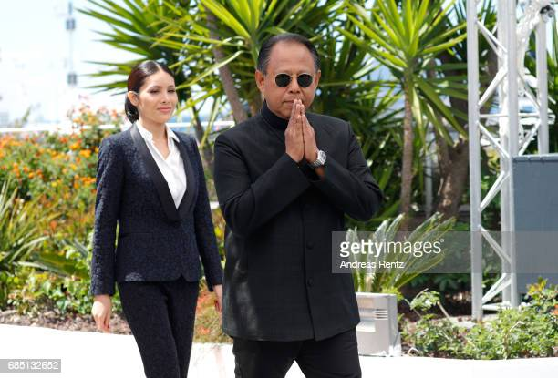 Actors Pornchanok Mabklang and Vithaya Pansringarm attend the A Prayer Before Dawn photocall during the 70th annual Cannes Film Festival at Palais...