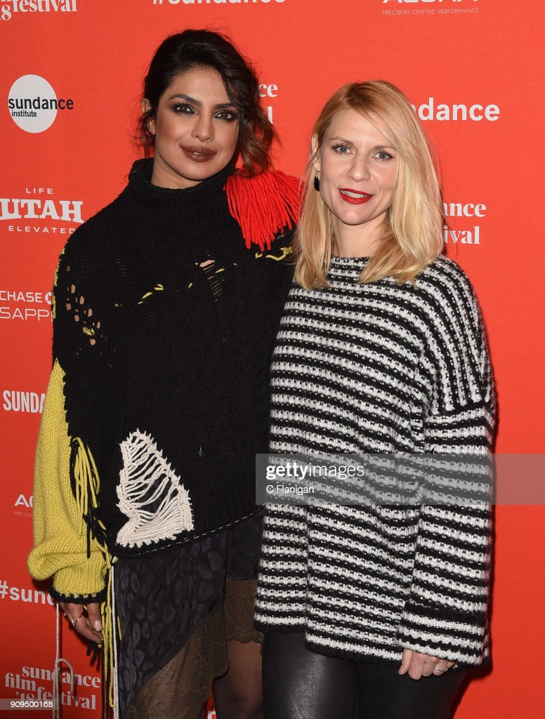 Actors Priyanka Chopra and Claire Danes attend the 'A Kid Like Jake' Premiere during the 2018 Sundance Film Festival at Eccles Center Theatre on January 23, 2018 in Park City, Utah.