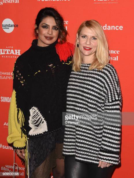 Actors Priyanka Chopra and Claire Danes attend the 'A Kid Like Jake' Premiere during the 2018 Sundance Film Festival at Eccles Center Theatre on...