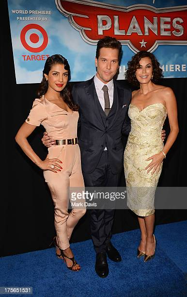 Actors Priyanka Chopra Dane Cook and Teri Hatcher attend the premiere of Disney's Planes at the El Capitan Theatre on August 5 2013 in Hollywood...
