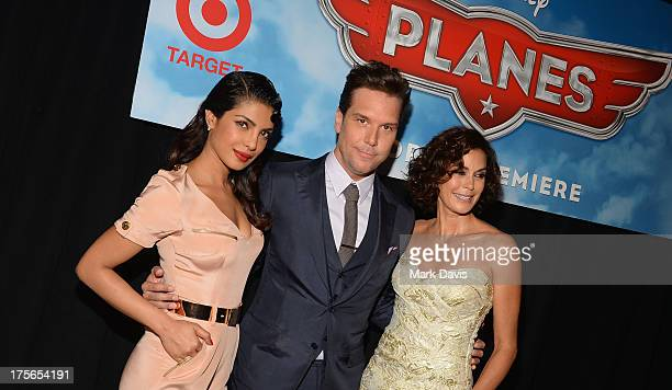 Actors Priyanka Chopra Dane Cook and Teri Hatcher attend the premiere of Disney's 'Planes' at the El Capitan Theatre on August 5 2013 in Hollywood...