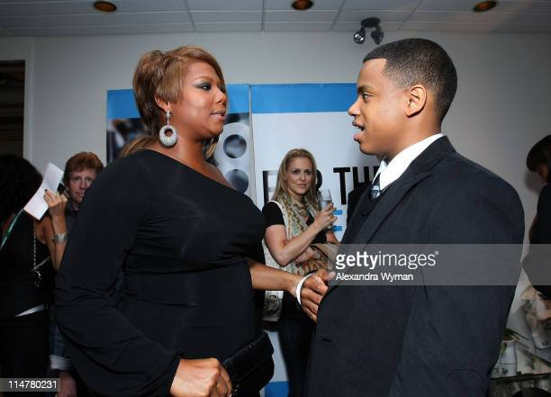 Actors Queen Latifah and Tristan Wilds arrive at Fox Searchlight's 'The Secret Life Of Bees' premiere held at Roy Thomson Hall during the 2008...