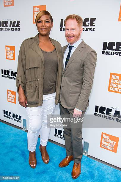 Actors Queen Latifah Jesse Tyler Ferguson attends the Ice Age Collision Course New York screening at Walter Reade Theater on July 7 2016 in New York...