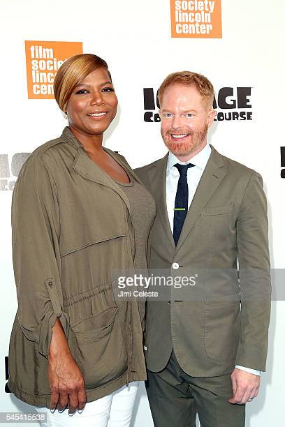 Actors Quenn Latifah and Jesse Tyler Ferguson attend ICE AGE COLLISION COURSE Special Screening with The Film Society of Lincoln Center at Walter...