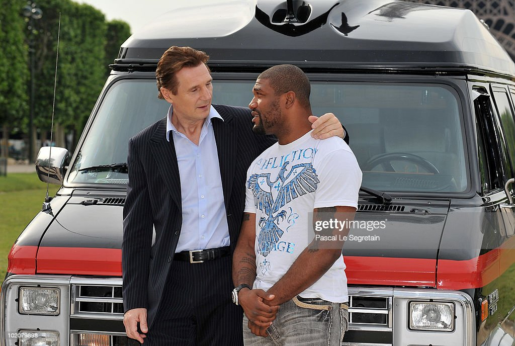Actors Quinton Rampage Jackson And Liam Neeson Attend A