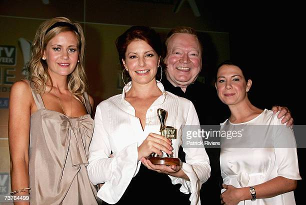 Actors Rachael Carpani Simmone Jade Mackinnon Bert Newton and Kate Ritchie attend the nominations announcement for the 2007 TV Week Logie Awards at...