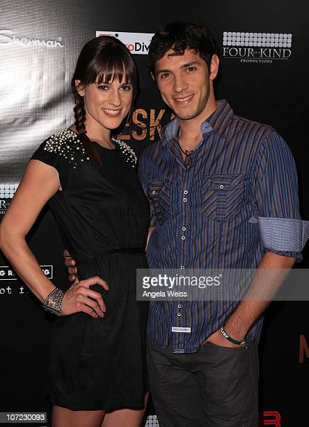 Actors Rachael Kemery and Michael Rady arrive at the premiere of 'Meskada' at Cinespace on November 30 2010 in Hollywood California