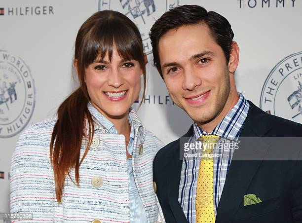 Actors Rachael Kemery and Michael Rady attend the launch party for Tommy Hilfiger's Prep World Pop Up House at The Grove on June 9 2011 in Los...