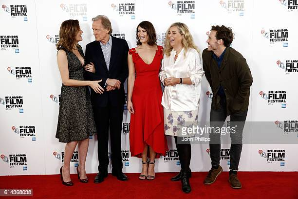 Actors Rachael Stirling Bill Nighy Gemma Arterton director Lone Scherfig and actor Sam Claflin attend 'Their Finest' photocall during the 60th BFI...