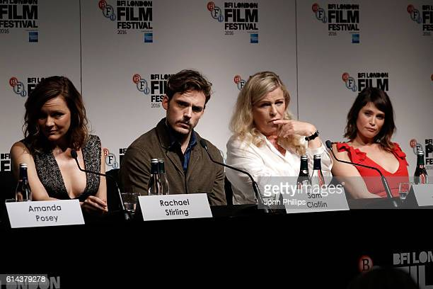 Actors Rachael Stirling Sam Claflin director Lone Scherfig and actress Gemma Arterton attend 'Their Finest' press conference during the 60th BFI...