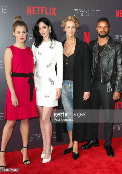 Actors Rachael Taylor Krysten Ritter Janet McTeer and Eka DarvilleÊattend the #NETFLIXFYSEE event for Jessica Jones at Netflix FYSEE At Raleigh...