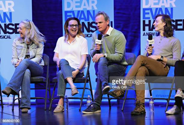 Actors Rachel Bay Jones, Jennifer Laura Thompson, Michael Park and Mike Faist take part in SiriusXM's 'Town Hall' with the original broadway cast &...